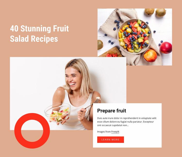 Stunning fruit salad recipes WordPress Website Builder
