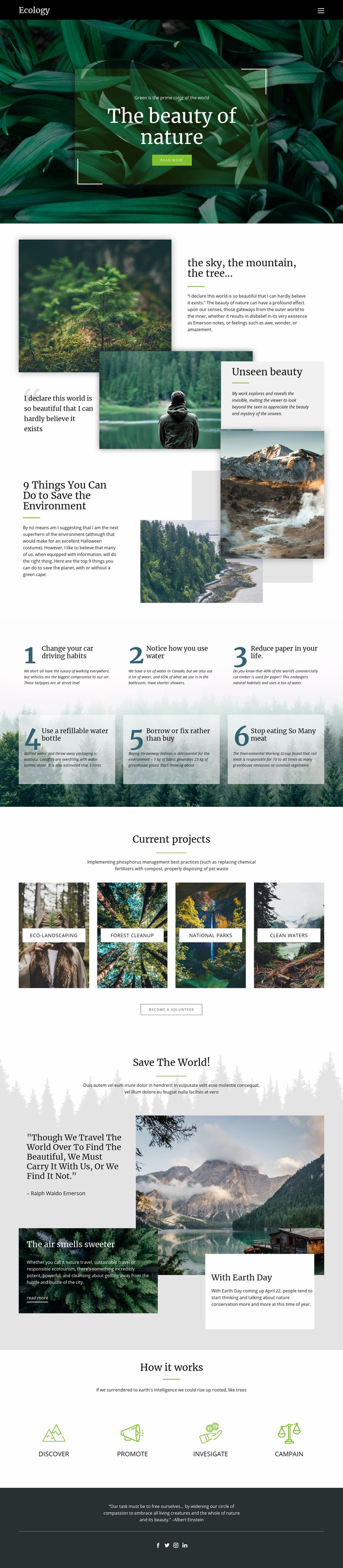 Skies and beauty of nature Web Page Design