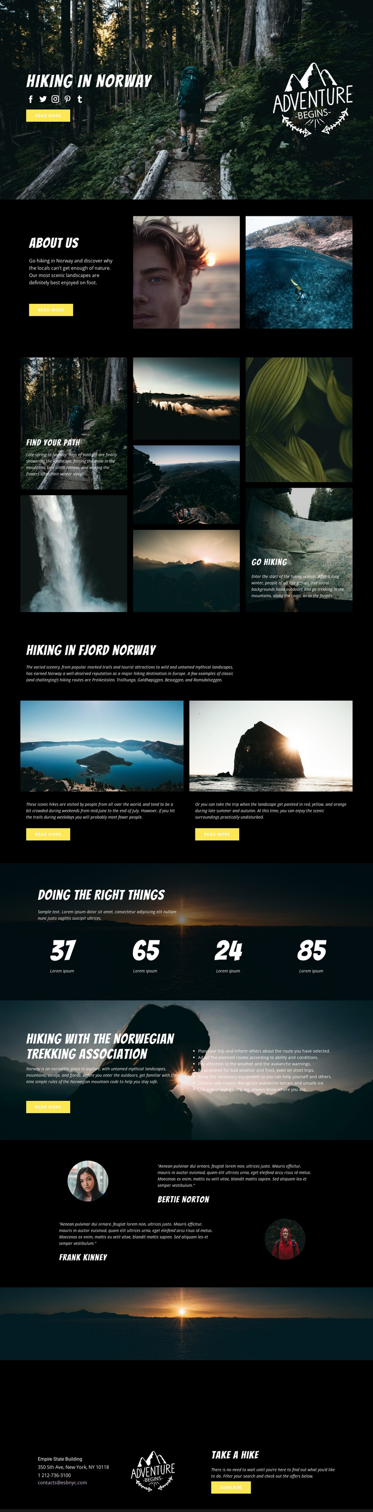 Norway HTML Template