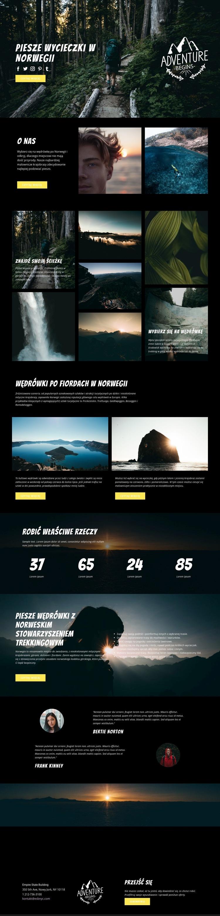 Norwegia Szablon witryny sieci Web