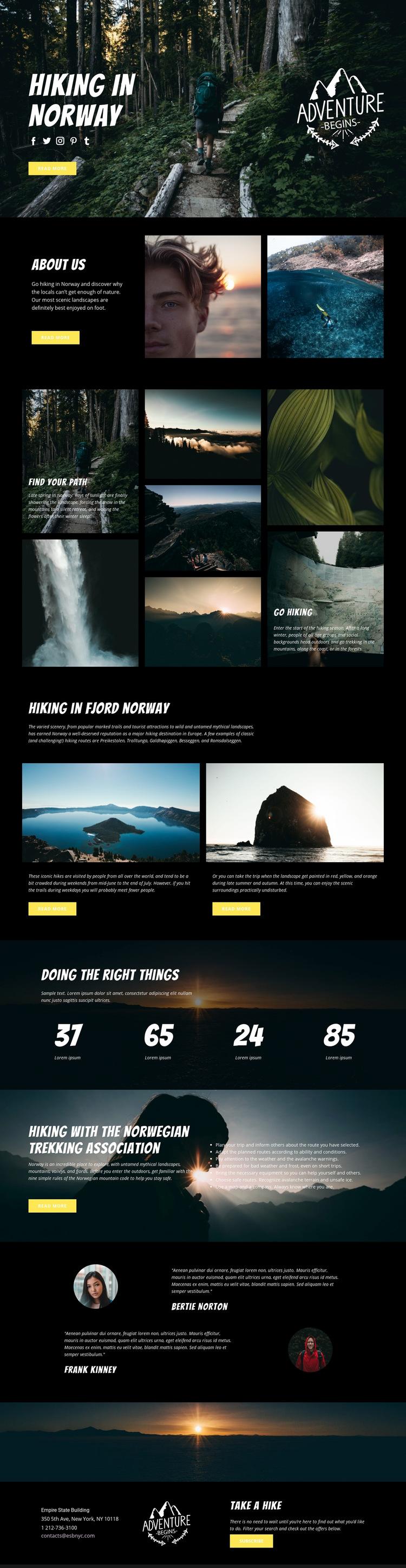 Norway Web Page Design