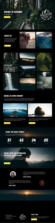 Norway Website Mockup