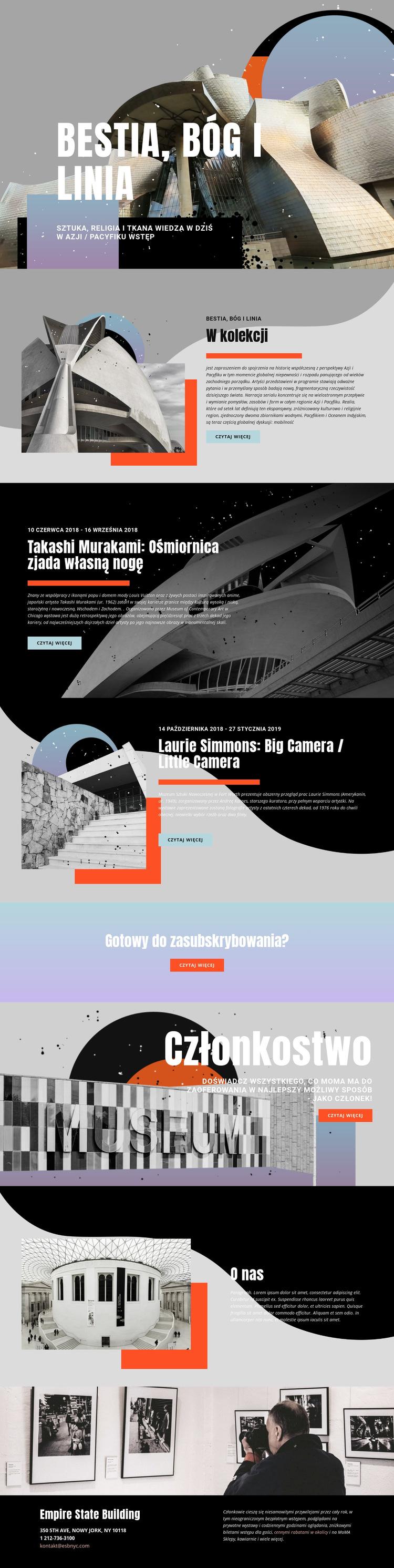 Kolekcja sztuki Szablon witryny sieci Web