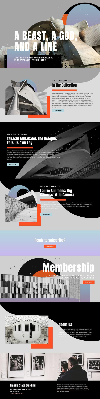 Art Collection Web Design