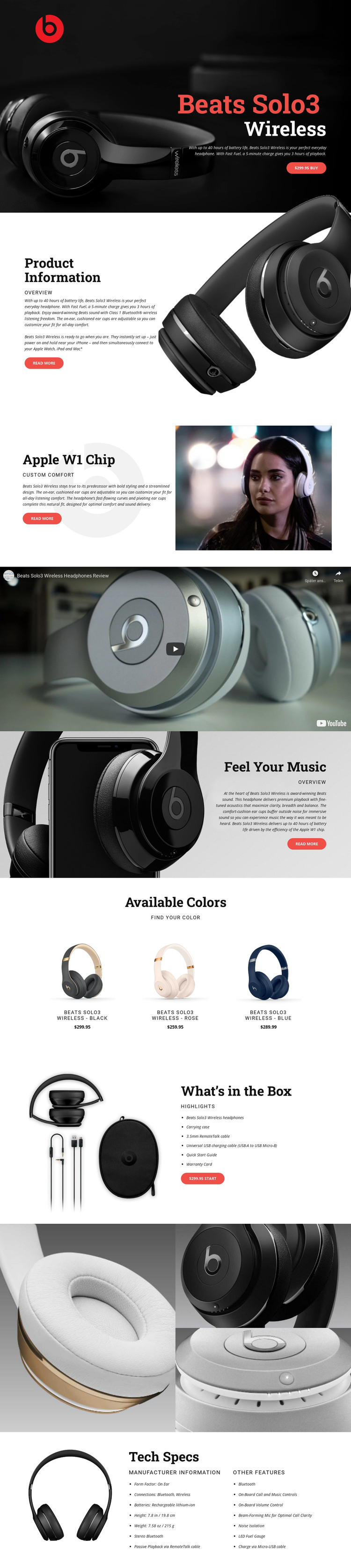 Outstanding quality of music HTML Template