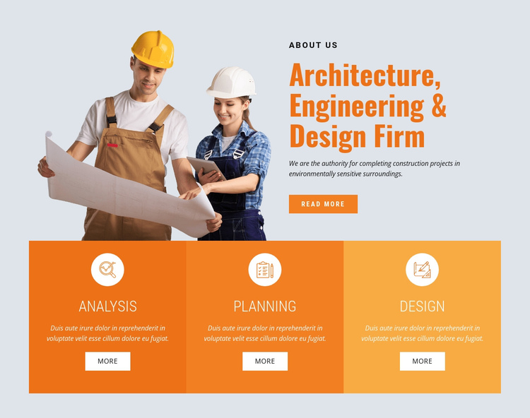 Leading buiding company One Page Template