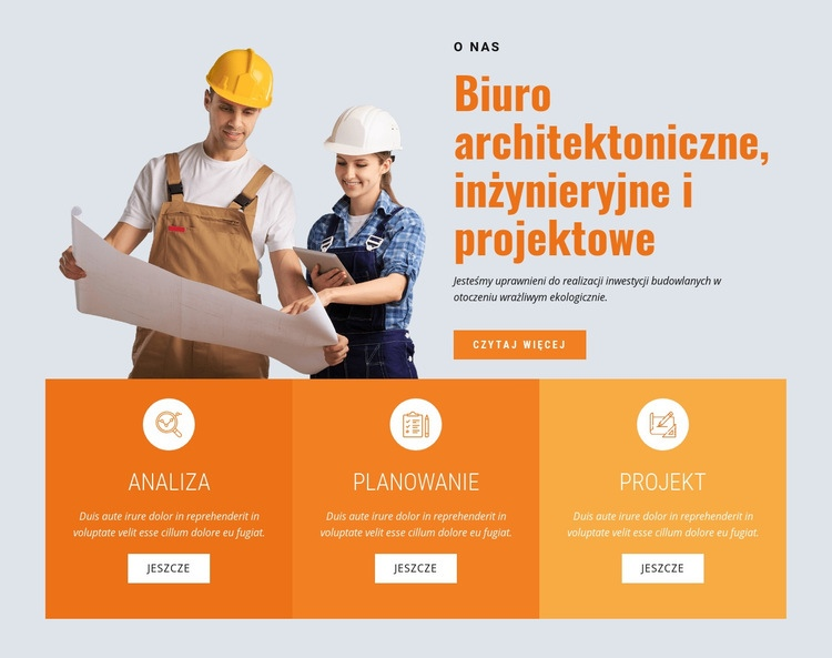 Wiodąca firma budująca Szablon witryny sieci Web
