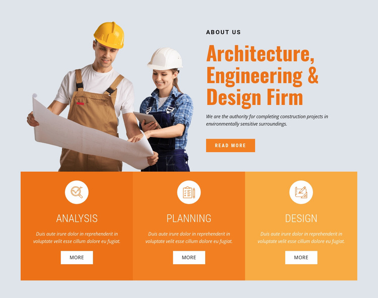 Leading buiding company Website Builder