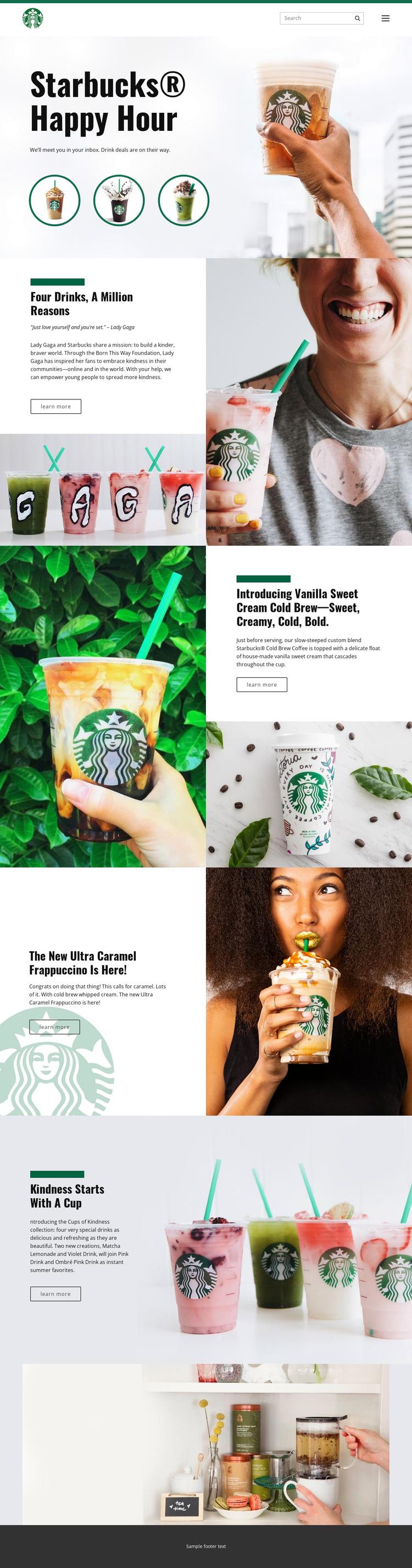 Starbucks Coffee Website Builder Software