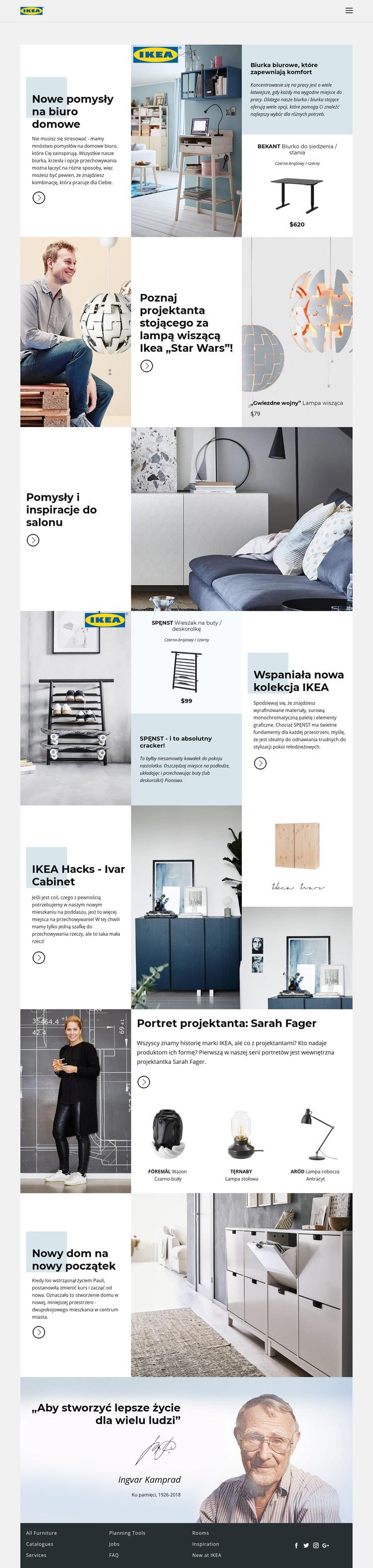 Inspiracja z IKEA Szablon witryny sieci Web