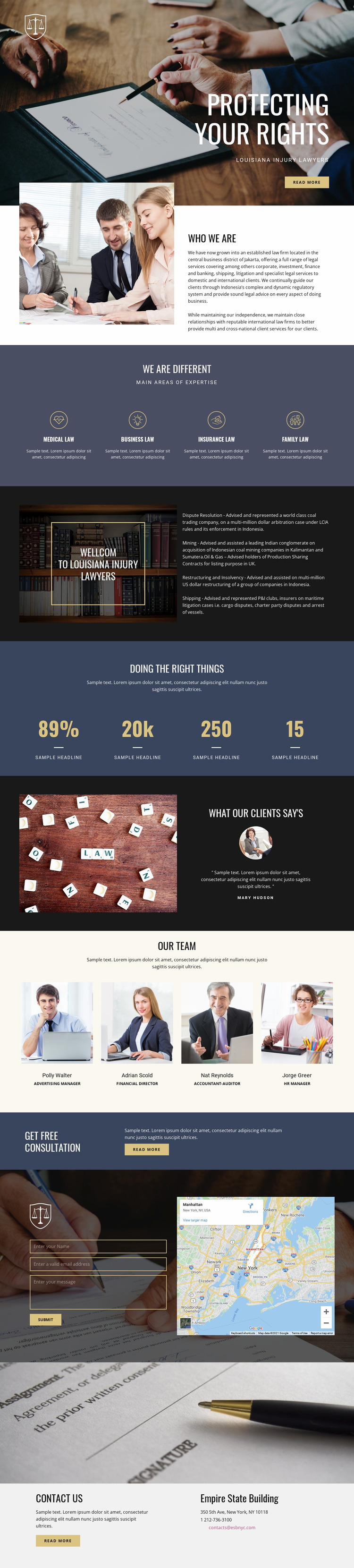 Protecting your rights  Website Mockup