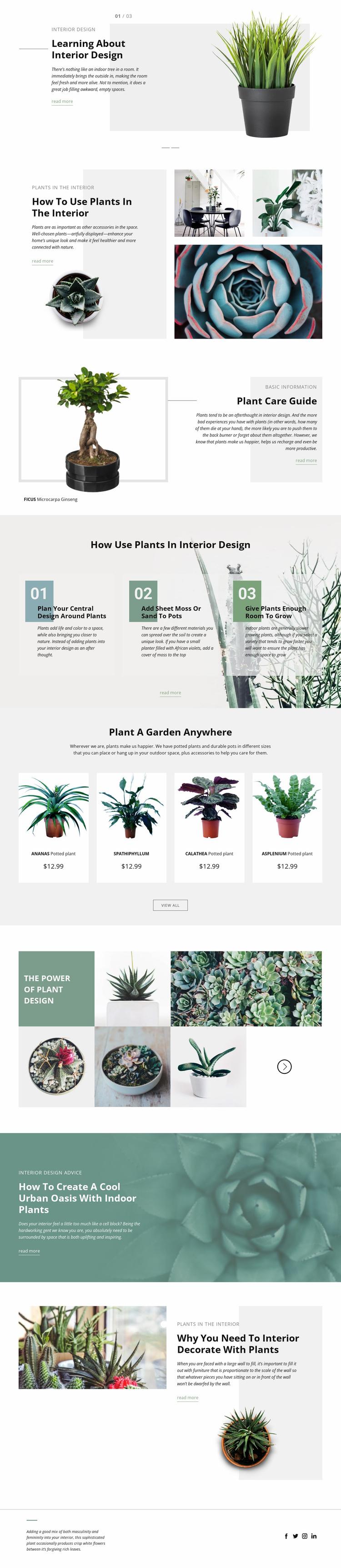 Interior Design Studio Website Template