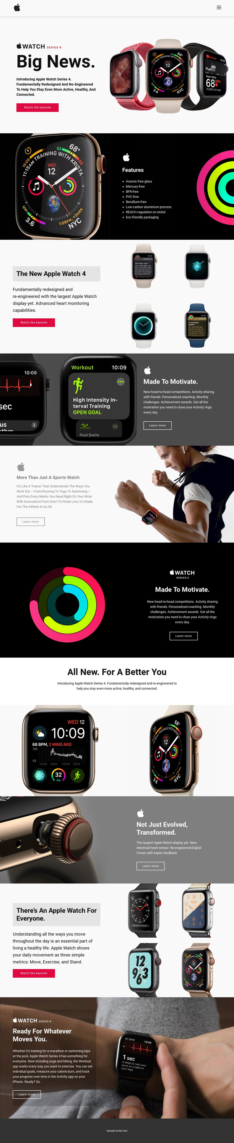 News about technologies Homepage Design
