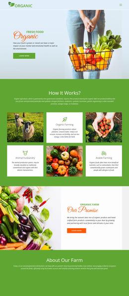 Organic Food Website Builder