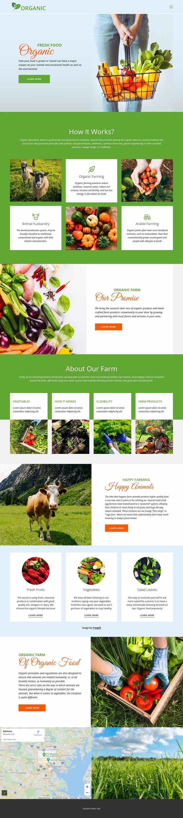 Eat best organic food Website Builder
