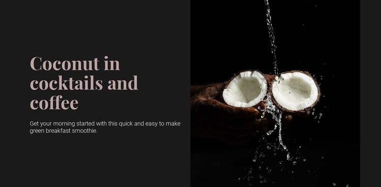 Coconut in cocktails CSS Template