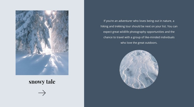 Winter tale CSS Template