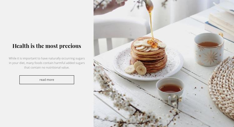 Breakfast aesthetics Homepage Design