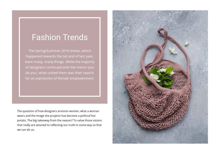 Eco trends Html Code Example