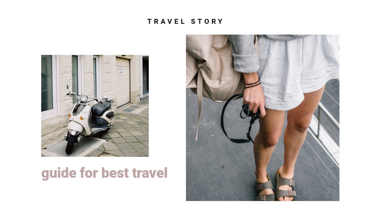 Traveling the streets of italy HTML Template