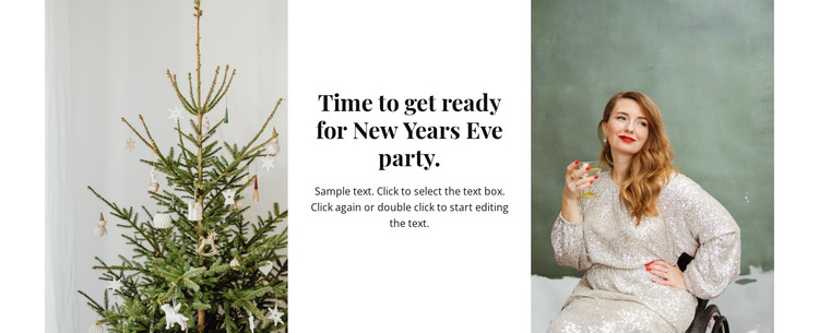 Time for new year party HTML5 Template