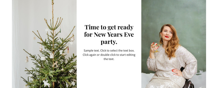 Time for new year party Joomla Template