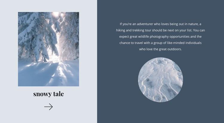 Winter tale Web Page Design
