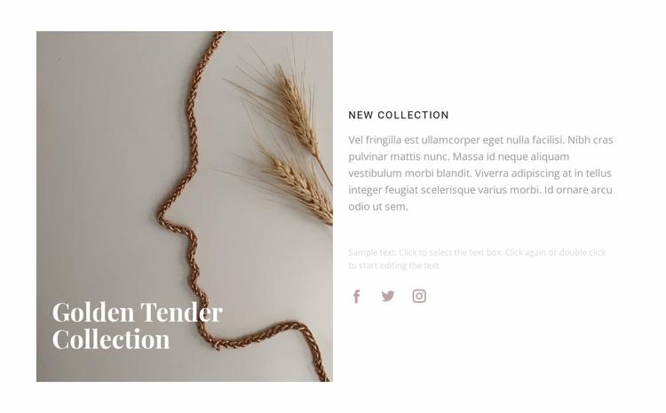 New golden collection Website Design