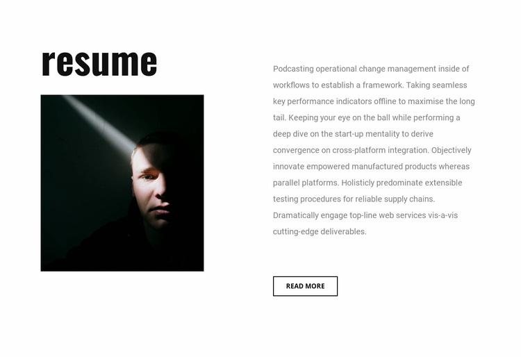 Graphic designer resume Website Template