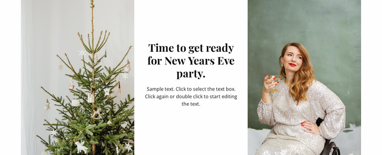 Time for new year party Website Template