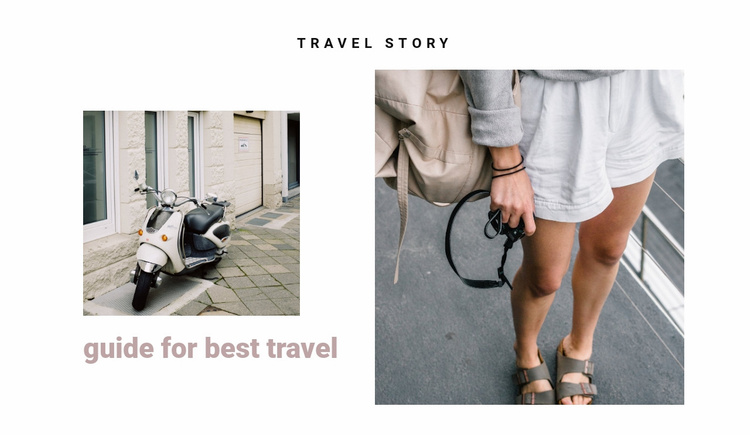Traveling the streets of italy Website Template