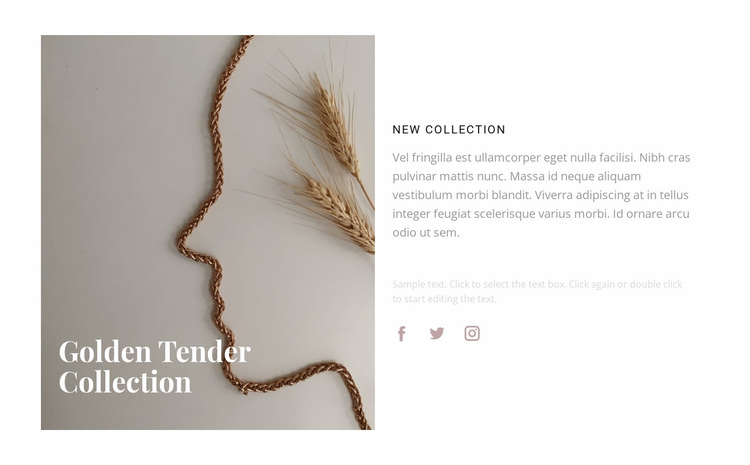New golden collection Website Template