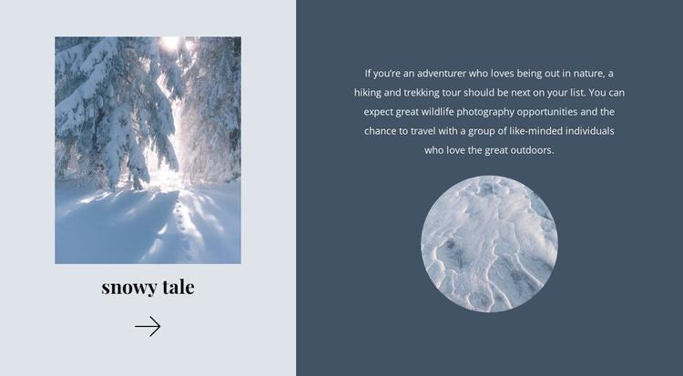 Winter tale Website Template