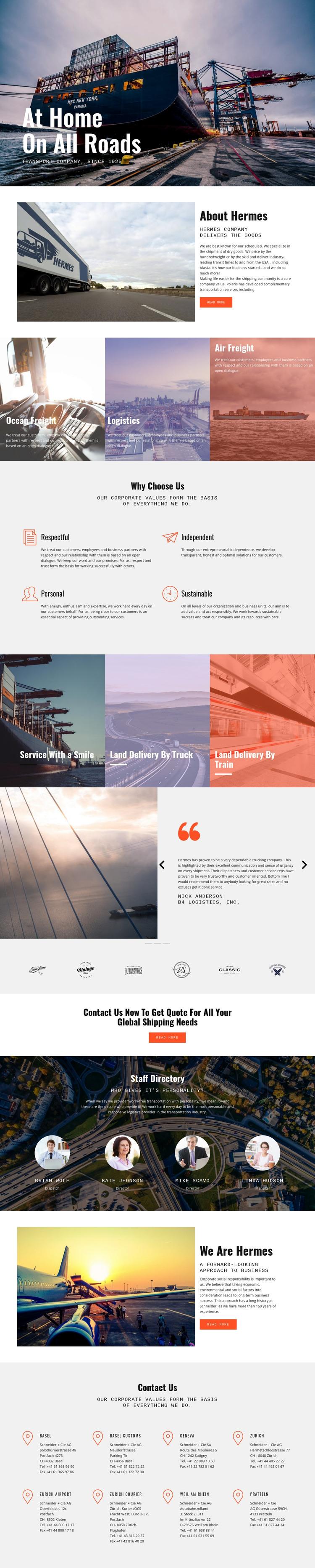 Hard roads of industiral WordPress Theme