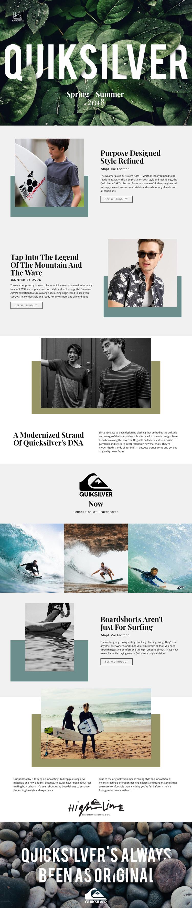 Quiksilver Web Design