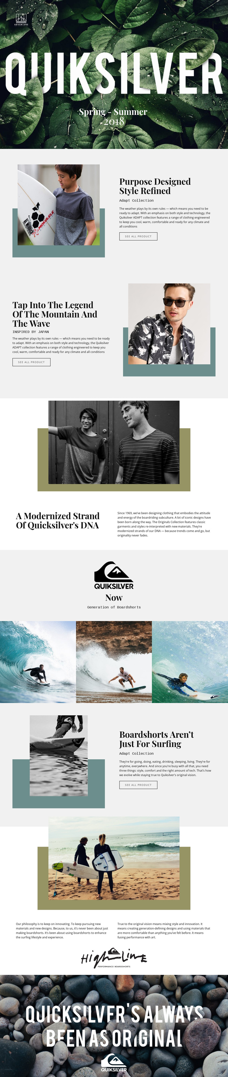Quiksilver Website Builder Software