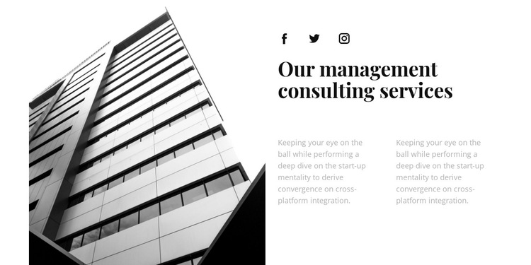 Business corporation HTML5 Template