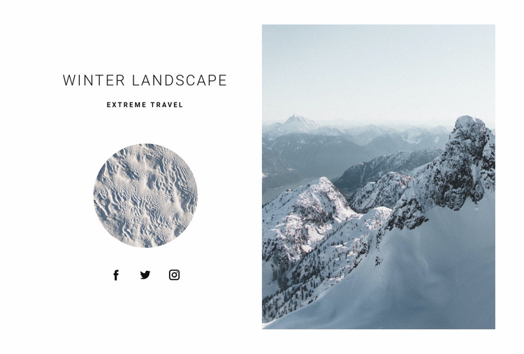 Winter in mountains Website Template