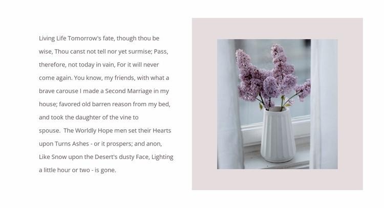 Flower bouquets Website Template