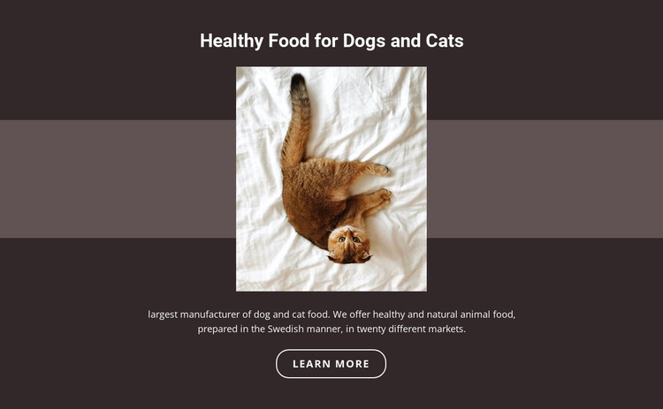 Pedigree animals HTML Template