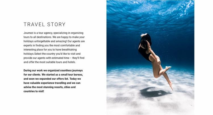 Ideal diving spots Web Page Designer