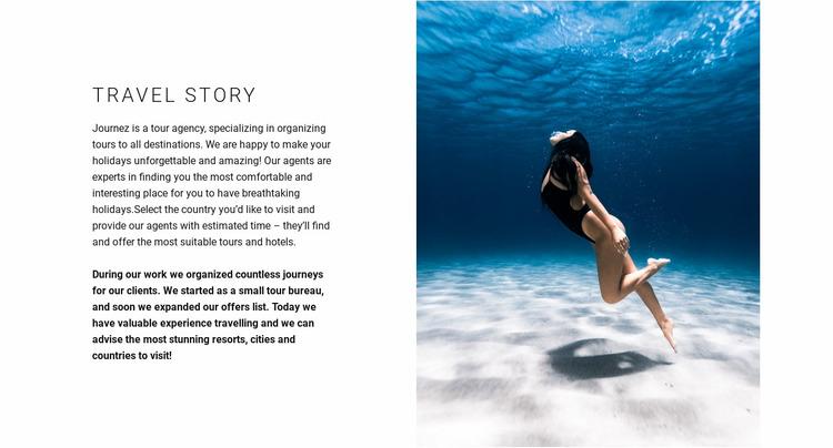 Ideal diving spots Website Mockup