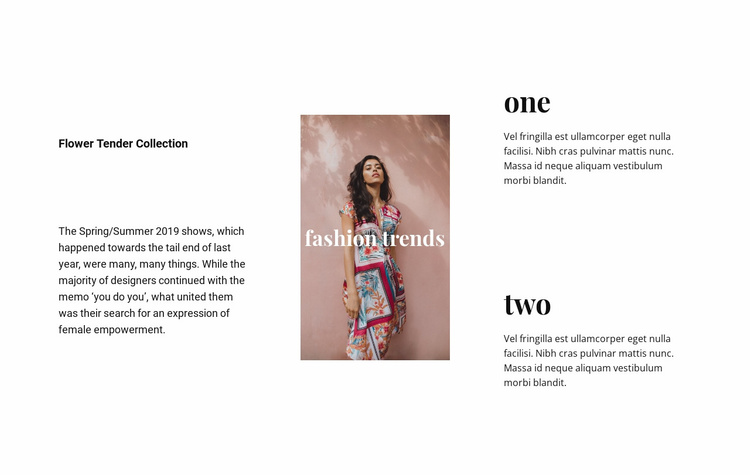 Dresses and skirts Website Template