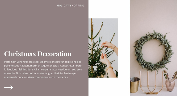 Holiday preparation mood Website Template