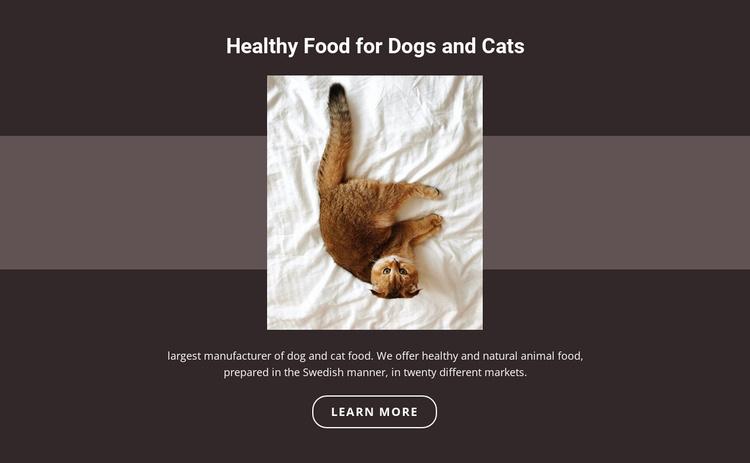 Pedigree animals Website Template