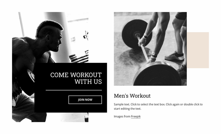 Customized training programs Website Template
