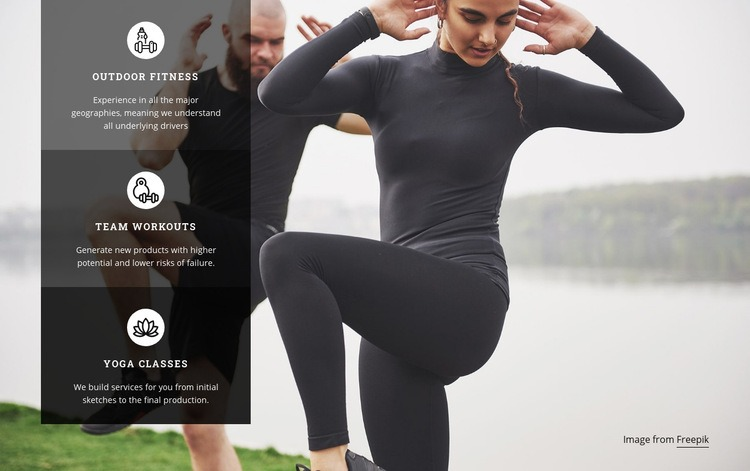 Build muscle and lose fat Homepage Design