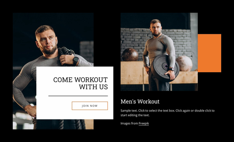 Come workout with us WordPress Website Builder