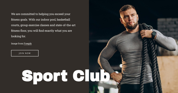 Gym with a pool HTML Template