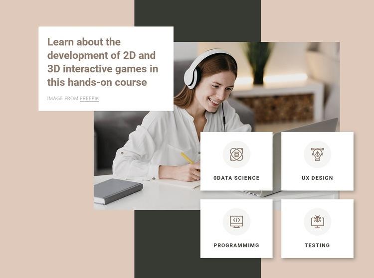 3D modeling courses Web Page Design